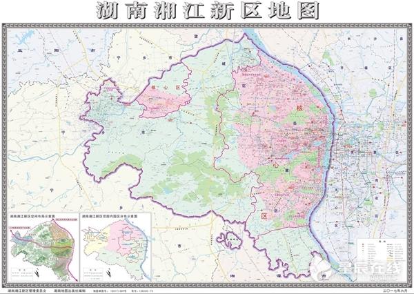"""湖南湘江新区发布首张辖区地图 了解新区将""""有图可循"""""""